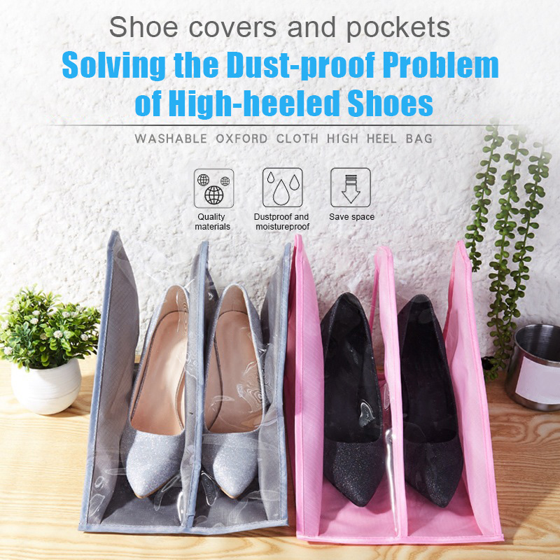 Portable Travel Shoe Bags Waterproof Organizer Space Saving Storager For High Heels C55