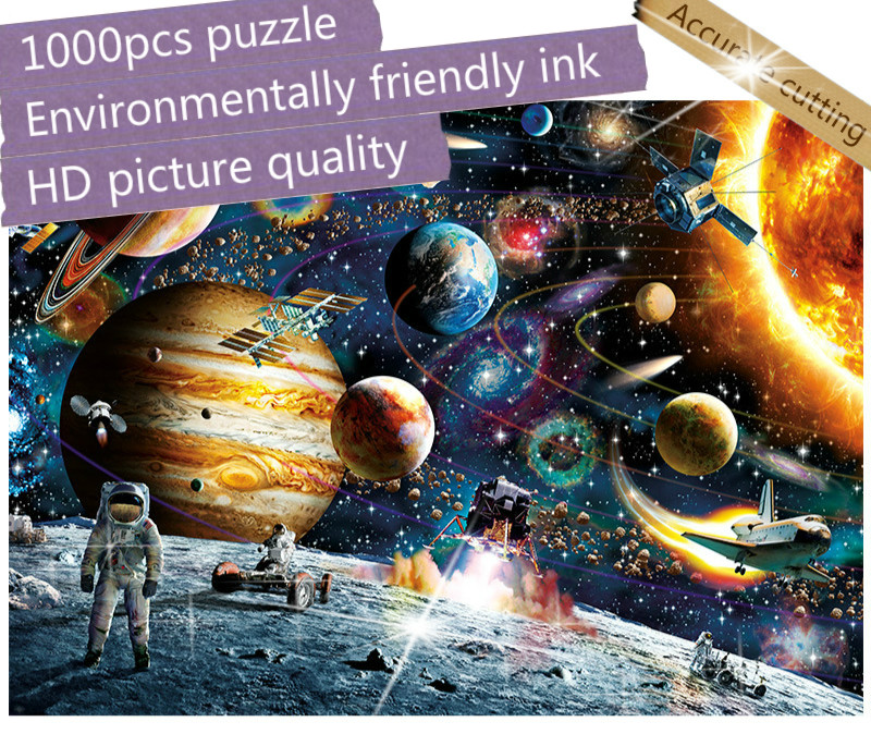 1000 Pieces Jigsaw Puzzles Educational Toys Scenic Figure Space Stars Educational Puzzle Toy For Kids/Adults Birthday Gift
