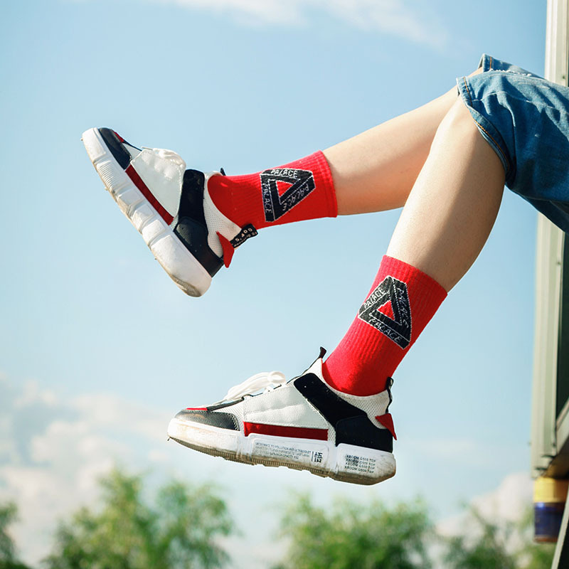 3pair Palace Cotton Socks Skateboard