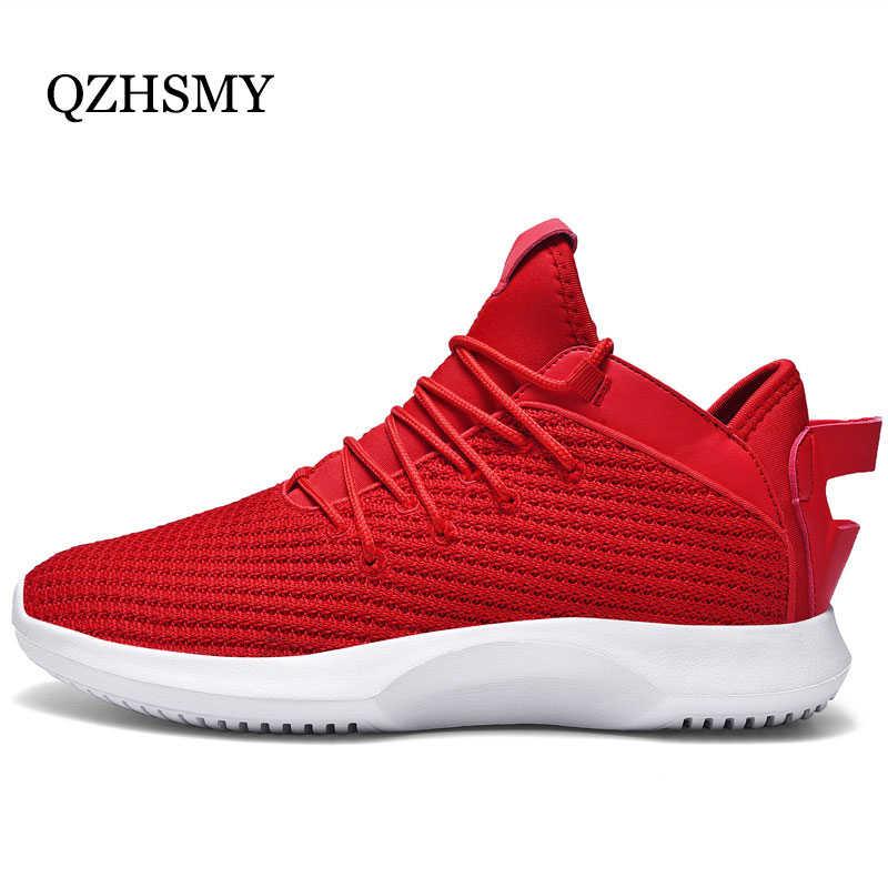 ตาข่ายรองเท้าผู้ชายรองเท้าผ้าใบฤดูใบไม้ผลิฤดูใบไม้ร่วง Breathable Tenis Masculino Fila นุ่มสีดำ/สีแดงวิ่งชายรองเท้า 39 -46