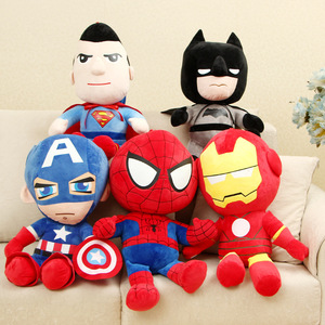 Marvel Avengers Soft Stuffed Hero Captain America Iron Man Spiderman Plush Toys Movie Dolls Christmas Gifts for Kids Disney 27cm