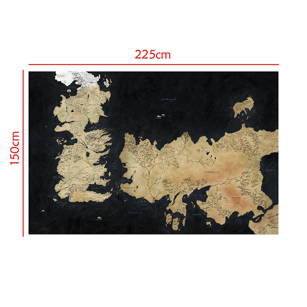 150x225cm Games Of Thrones World Map Home Internet Cafe Wall Decor Painting Poster Photo Studio Backdrops