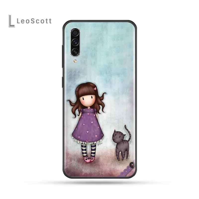 Mädchen Santoro Gorjuss Cartoon Schöne Schwarz Handy Fall Für Samsung Galaxy A 3 6 7 8 10 20 30 40 50 70 71 10S 20S 30S 50S PLUS