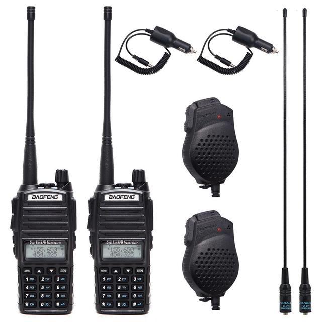 1Pcs/2Pcs Walkie Talkie Baofeng UV 82 Radio Station 5W Draagbare Baofeng Uv 82 Radio Amateur BF UV82 dual Ptt Twee Manier Radio 2 PTT