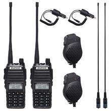 1pcs/2pcs Walkie Talkie Baofeng UV 82 Radio Station 5W Portable Baofeng UV 82 Radio amateur BF UV82 Dual PTT Two Way Radio 2 PTT