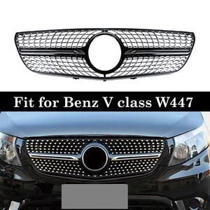 Image 1 - Алмазные грили vito V260 V250 для Mercedes V class W447, гоночная решетка 2016 18 без эмблемы