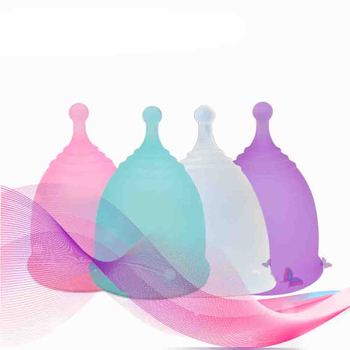 1pcs Menstrual Cup Medical Silicone Feminine Hygiene Women Period Cup Silicone Reusable Menstrual Cup reusable soft cup silicone menstrual cup big and small sizes three colors women hygiene health care supplies