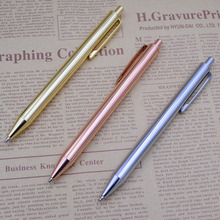 цена на Press Style Metal Ball Point Pen 0.7 mm Black Ink Ballpens For School Office Writing Gift Koy Corner