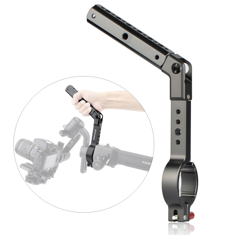 Ronin-S Neck Ring Mounting Handle Grip Extension Arm Monitor Microphone LED Video Light For DJI Ronin S Crane 2 Handheld Gimbal