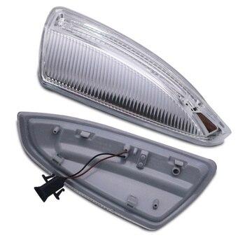 2 uds. Espejos de puerta luces de intermitente para Mercedes Benz W204 W639 C63 C300 C350 plástico amarillo para kit de espejo retrovisor
