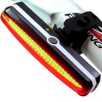 USB recargable Luz de la bicicleta de ciclismo LED Luz trasera de bicicleta impermeable frente Luz trasera del faro volver lámpara de advertencia Luz Bicic