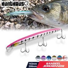Приманка для рыбалки hunthouse minnow sandeel jerkminnow плавающая