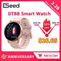 Reloj inteligente ESEED DT88 para mujer ip68 a prueba de agua con pantalla de 1,22 pulgadas de presión cardíaca para android ios reloj samsung huawei