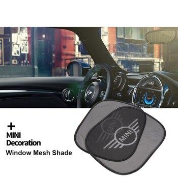 Sombrilla de malla para ventana lateral de coche, accesorios universales para MINI...