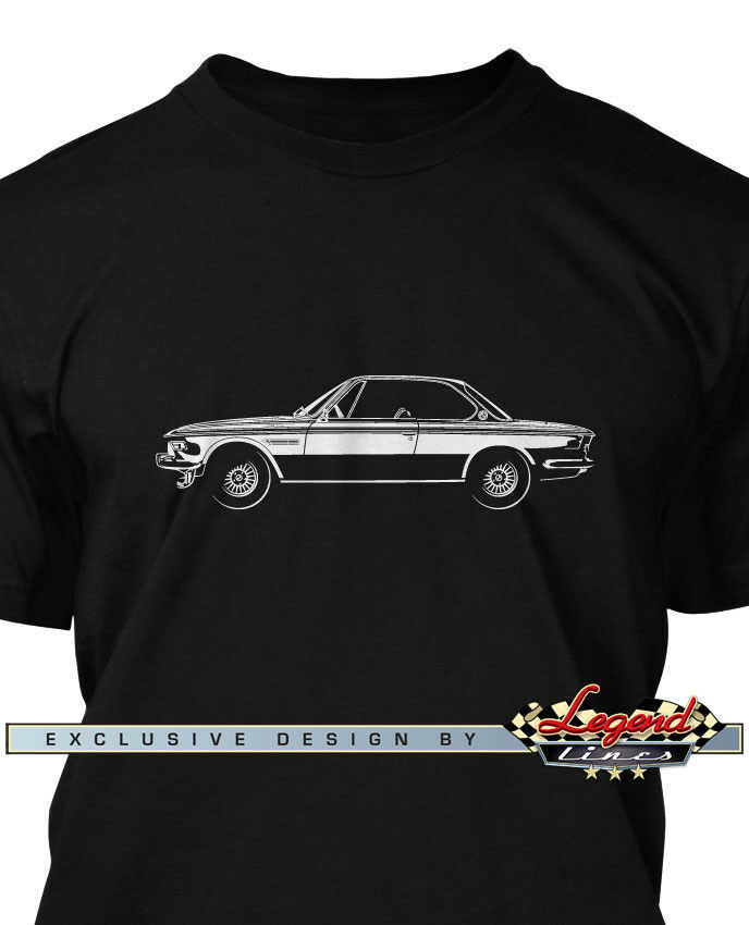BMW E9 3.0 CSL 1968 - 1975 Men T-Shirt - Multiple Colors & Sizes - German Car