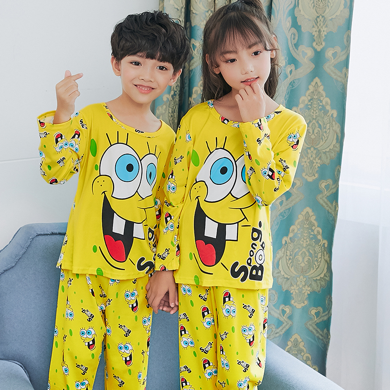 Factory Wholesale Autumn 2019 New Children Boys Girls Kids Clothing   Sets   Cartoon Suit Sleepwear Long Sleeve Cartoon   Pajamas     Set