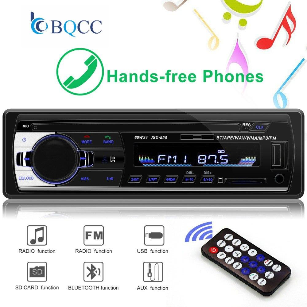 Radio de Coche Autoradio 1 Din Bluetooth SD MP3 jugador Coche Radios Estereo Poste párr Auto Audio oto teypleri auto radio reproductor de Coche