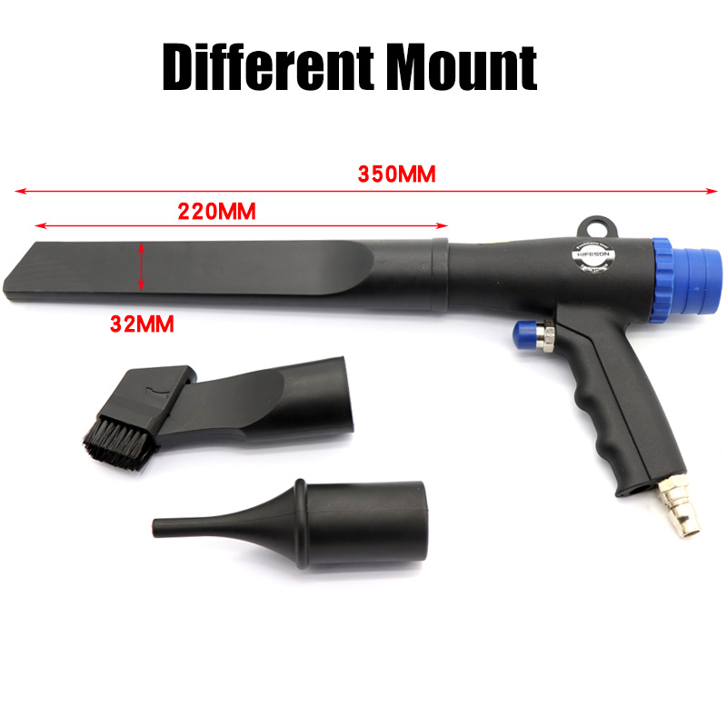 3pcs Removal Vacuuming And With Dual Gun Dust Pneumatic Dust Air Nozzles Suction Blowing For Use Vacuuming