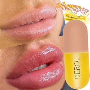 Instant Volumising Lip Plumper Moisturizing Lip Repairing Reduce Lip Fine Lines Mask Brighten Lip Color Lip Plumper Oil Lip Care(China)