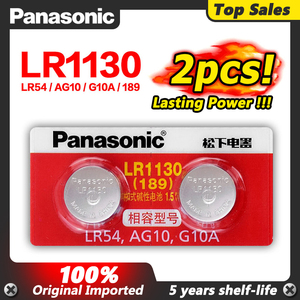 2 шт./лот батарея 1,5 В AG10 100% оригинал Panasonic LR1130 Щелочная Кнопка батарея AG10 389 LR54 SR54 SR1130W 189 LR1130
