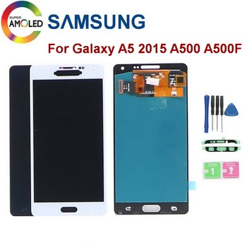SUPER AMOLED 5.0 LCD For SAMSUNG Galaxy A5 2015 A5000 A500 A500F A500M SM-A500F LCD Touch Display Screen Digitizer Replacement 100% tested aaa quality for samsung galaxy a5 2015 a500 a500f a500m replacement lcd display with touch screen digitizer assembly