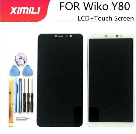 ЖК-дисплей 5,99 дюйма, протестированный на 100% оригинал, для Wiko Y80, кодирующий преобразователь сенсорного экрана в сборе, замена Wiko Y80 инструмен...