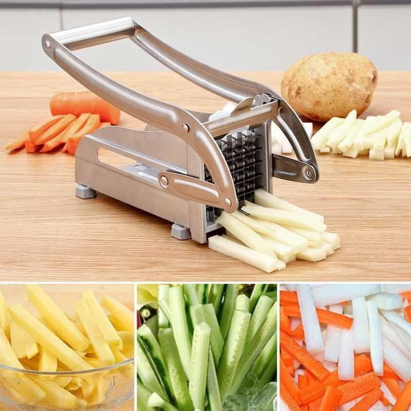 Stainless Steel Potato Slicer Kitchen Accessories Vegetable Cutter Household Cucumber Cutting Machine Carrot Cut Kitchen Tools