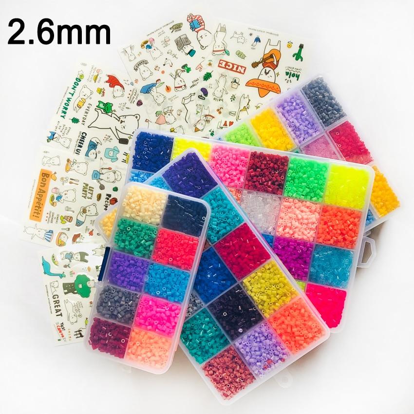DOLLRYGA 24Colors 23000PCS Box 2.6mm Hama Beads Set Education Beads 100% Quality Guarantee Perler Fuse Beads DIY Toy Juguetes