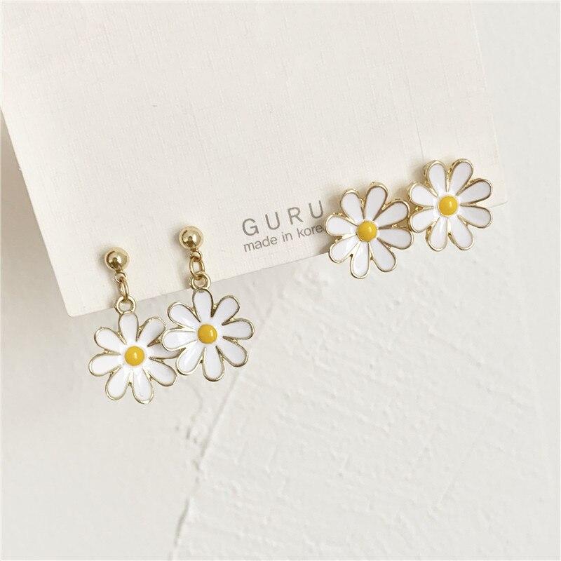 Модные темпераментные маленькие и чистые и свежие цветы маленькие серьги гвоздики красивые серьги ювелирные изделия аксессуары|Серьги-гвоздики|   | АлиЭкспресс