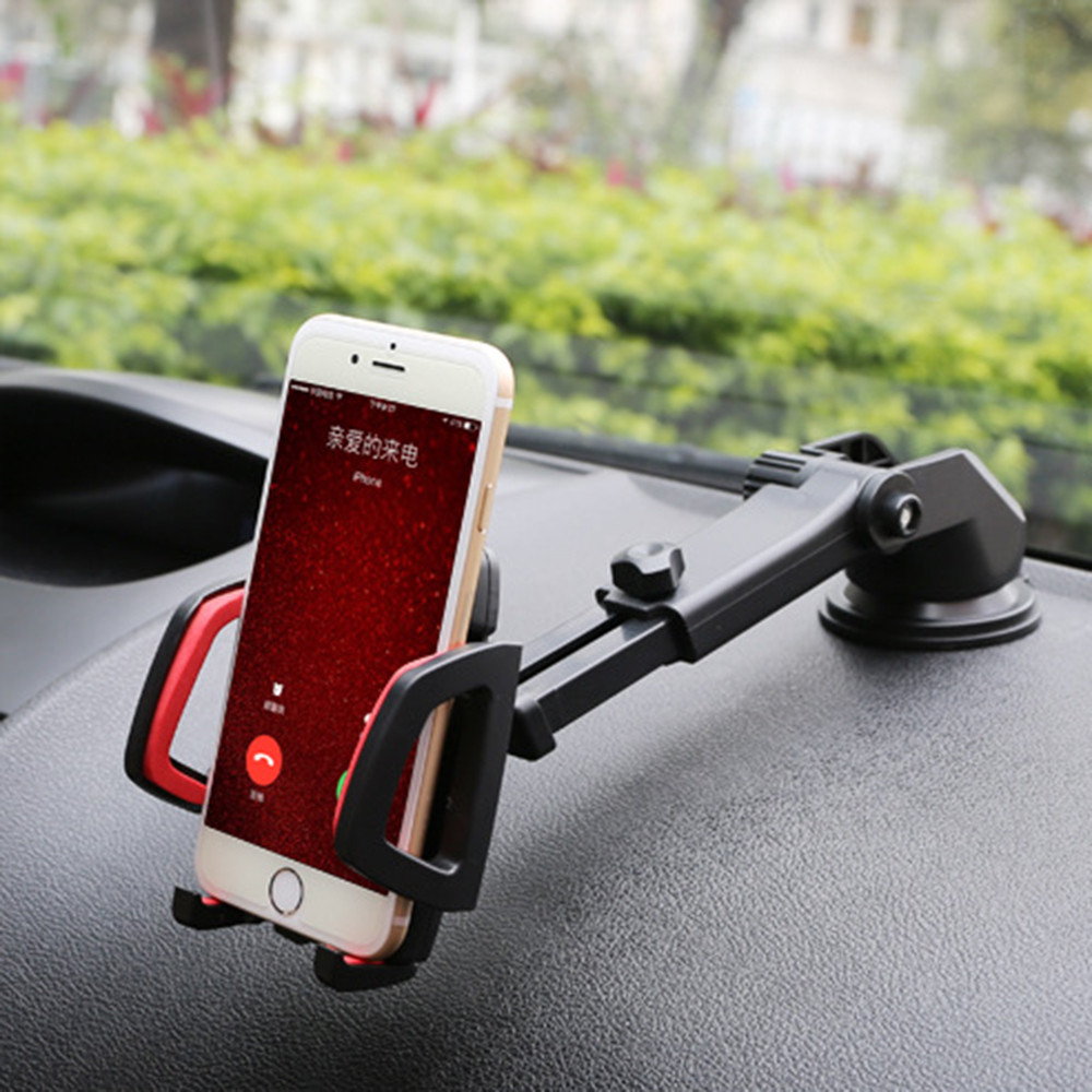 Uchwyt samochodowy na telefon uniwersalny 360 ° obrotowy uchwyt do mocowania na szybie samochodowej wspornik stojakowy na telefon komórkowy