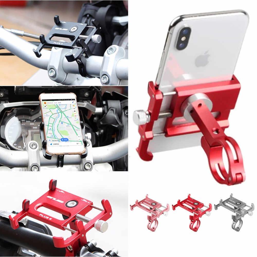 Велосипедный телефонный держатель GUB PLUS 6, алюминиевый регулируемый кронштейн для смартфона 3,5-6,5 дюймов с поддержкой GPS