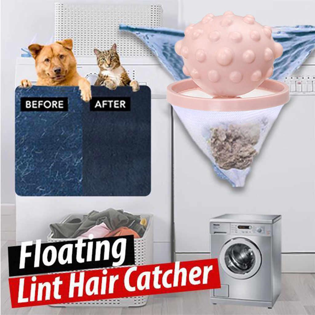 Strona główna pływające Lint wyłapywacz włosów pokrowiec siatkowy pralka pranie worek filtracyjny banheiro łazienka pływające zwierzę futro łapacz nowość