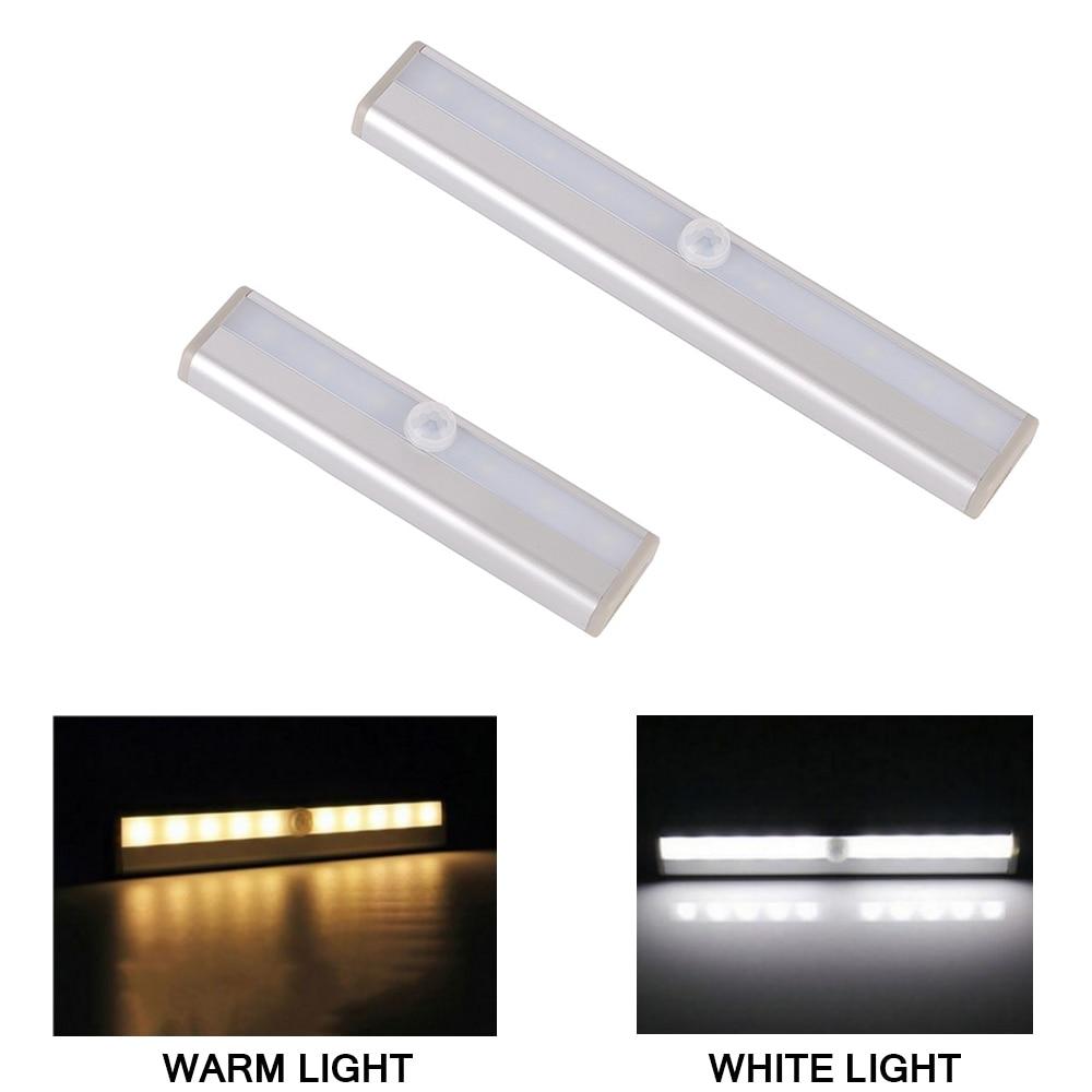 6/10 LED Lighting With PIR Motion Sensor Light LED Cabinet Down Light For Closet Cupboard Closet Kitchen Night Light