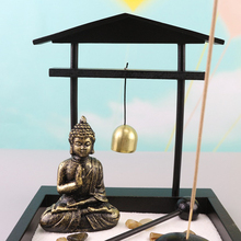 Meditation Garden Buddha Statue With Rocks,Incense And Incense Holder