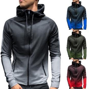 2020 męska moda na zamek błyskawiczny odzież sportowa Gradient 3Dprinting odzież sportowa męska bluza z kapturem wiosna i jesień odzież sportowa tanie i dobre opinie HEFLASHOR CN (pochodzenie) MANDARIN COLLAR Zipper fly NONE COTTON Pełna Na co dzień Spandex polyester PATTERN Drukuj