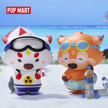 POPMART Goobi the kid fox -Lil' foxes' summer Series Blind Box Doll Binary Action Figure Birthday Gift Kid Toy(China)