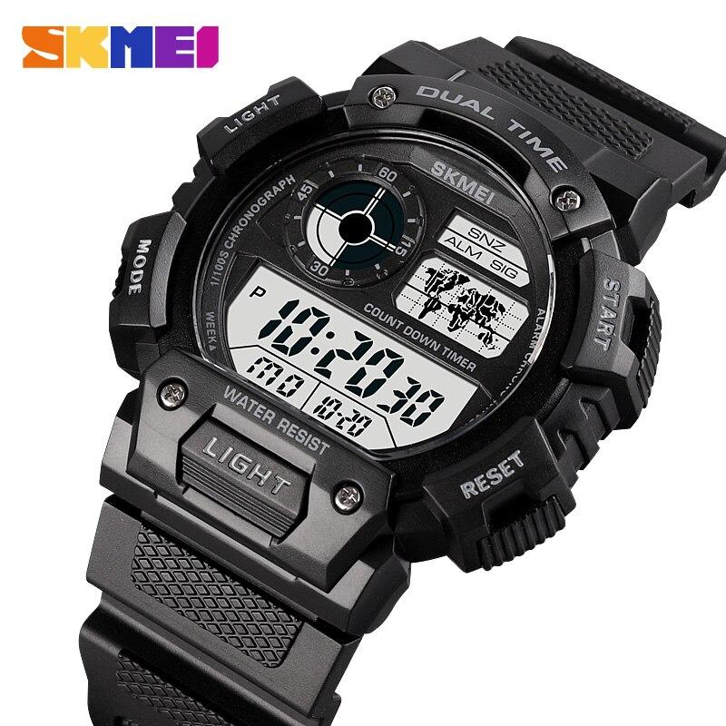 SKMEI CountDown Sports Watch Timer Multifunction Digital Sports Men Watches Waterproof Mens Wristwatches Clock reloj hombre 1723