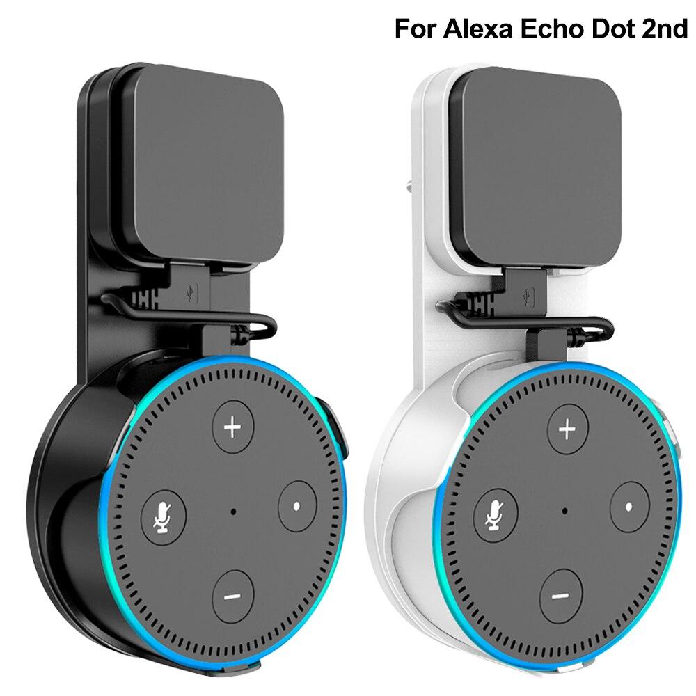 Настенный кронштейн для Alexa Echo Dot, стойка сперкера 2-го поколения, подставка с вилкой UK/EU и кабелем Micro USB