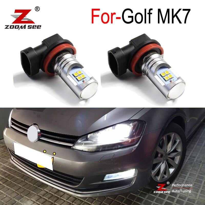 2 шт. высокое качество Canbus Белый Автомобильный светодиодный передние противотуманные фары противотуманные светильник для VW Golf 7 MK7 VII 2015 2016 ...