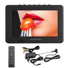 LEADSTAR 7 pouces Portable Mini Tv entièrement Compatible avec DVB-T2 H265/Hevc DVB-T/H264 Dolby Ac3 800x480 prise en charge de la carte mémoire USB
