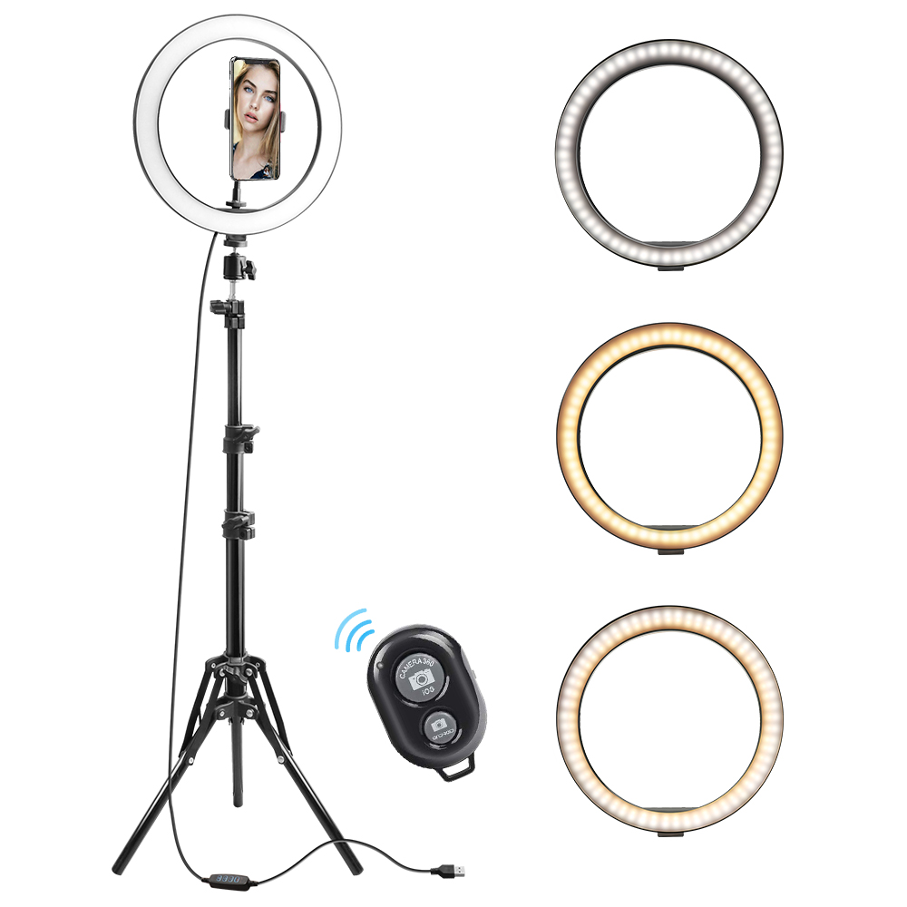 Rovtop 10 Inch Selfie Ring Light with Ring Stand for iPhone Tripod and Phone Holder for Video Photography 22