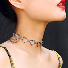 Heart Choker Necklace For Women Multilayer Pendants Necklaces Fashion Gold Color Collar Jewelry Statement Jewellery Bijoux new