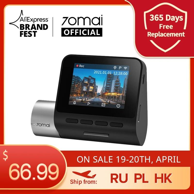 70mai A500 Dash Cam Pro Plus 1944P Built in GPS ADAS Car Dash Camera Dual Sight Cam 70mai Plus A500S Car DVR 24H Parking Monitor