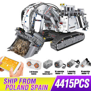Bricks TOYS Car-Model Building-Blocks Liebherr Excavator Mining Technic-Series 9800-Motor