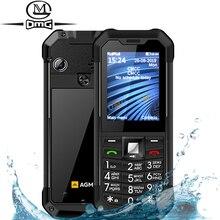Orijinal AGM M3 rusça klavye sağlam IP68 su geçirmez darbeye dayanıklı cep telefonu düğme çift SIM 1970mAh FM unlocked GSM cep telefonu