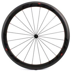 Image 4 - Elite SLR углеродное волокно автомобильный велосипед колесо прямого оттягивания низкосопротивления керамическая ступица 25 / 27 мм ширина трубы без внутренней оболочки 700C колесная пара