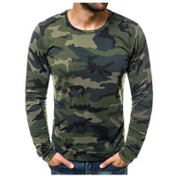 JAYCOSIN T Shirt Mens Casual Slim Camouflage Printed T Shirts homme Autumn  Long Sleeve O Neck Men T-shirt  tshirt Tops  19AUG16