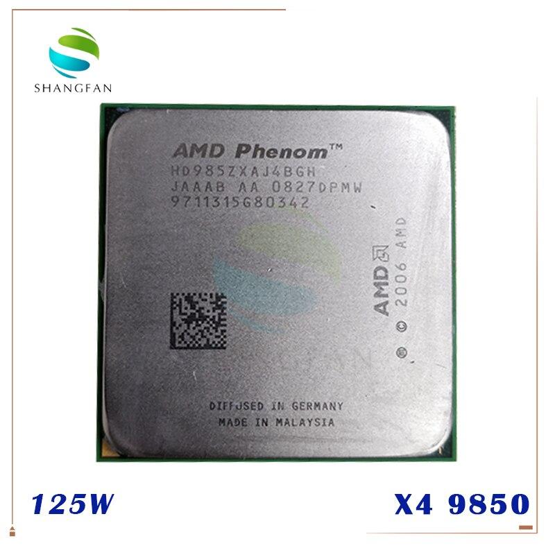 AMD Phenom X4 9850 2.5 GHz 95W Quad-Core CPU Processor HD9850WCJ4BGH HD985BWCJ4BGH Socket AM2+