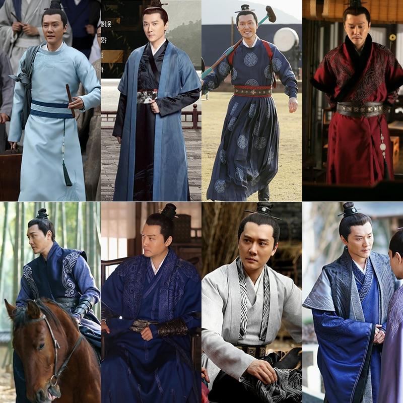 2020 The Story Of MingLan Customization Chinese Style Hanfu Men Emperor Costume Tv Movie Studio Ancient Appar Hanfu Set