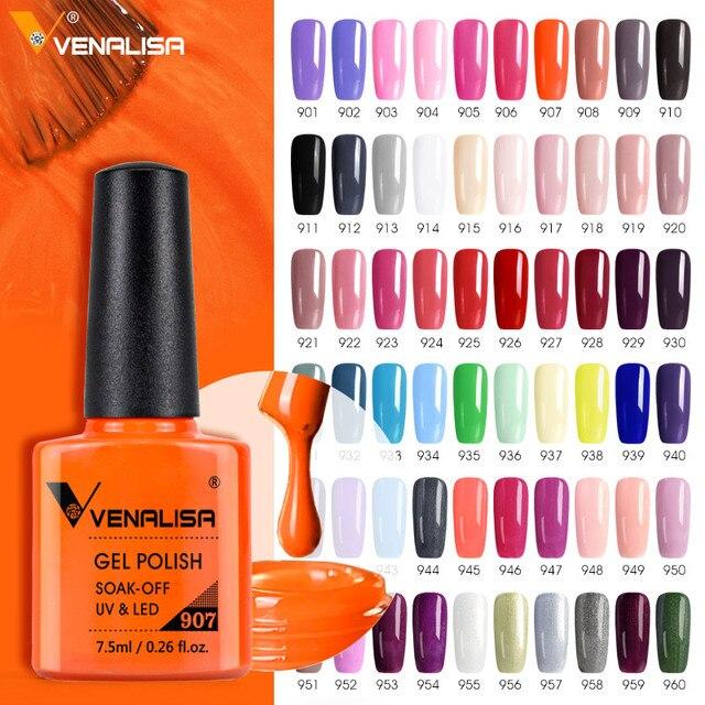 Venalisa 7.5ml Gel Nail Polish Canni Nail Supply Wholesale Soak Off UV LED Gel Lacquer Nail Art Glitter Polish Long Lasting Gel 1